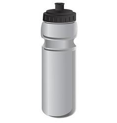 Grey sports water bottle vector