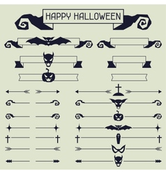 Halloween collection of design elements vector