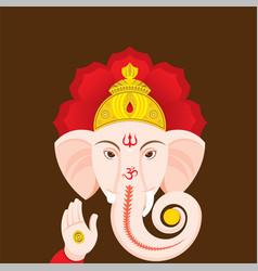 happy ganesha chaturthi greeting design vector image