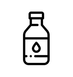 healthy water in plastic bottle sign icon vector image