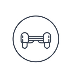 Hoverboard icon linear pictogram on white vector