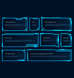 hud game element futuristic tech screen template vector image