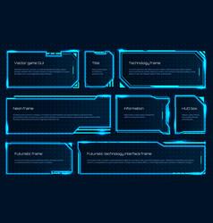Hud game element futuristic tech screen template vector