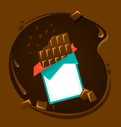 icon of black or milk chocolate vector image