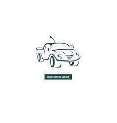 Icon radio-controlled car suv vector
