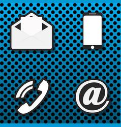icons communications stylish background letter vector image