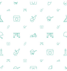 Industrial icons pattern seamless white background vector