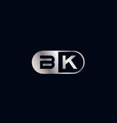 Initial letter bk logo template vector