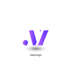 initial letter n i vector image