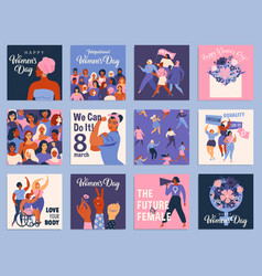 international women s day set templates vector image