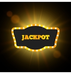 Jackpot Retro Banner Gambling Design vector
