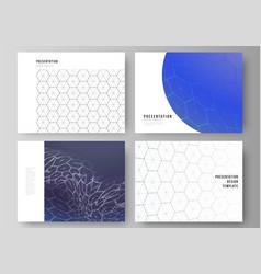 layout presentation slides design vector image