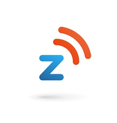 Letter Z wireless logo icon design template vector image