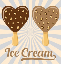 Lolly ice cream on stick vector