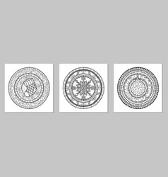 mandala doodle tattoo perfect element for vector image