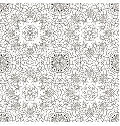 mandala eastern pattern zentangl seamless vector image