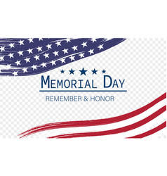 memorial day banner for holiday and sales day vector image