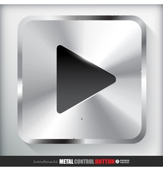 Metal play button applicated for html and flash vector