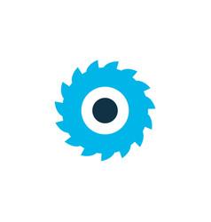 Milling cutter icon colored symbol premium vector