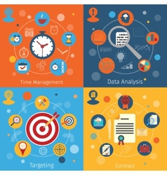 Modern web concepts set vector