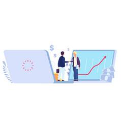 Online deal ecommerce partner agreement vector