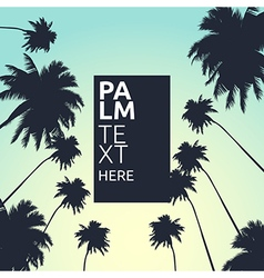 Palm trees card vector image vector image