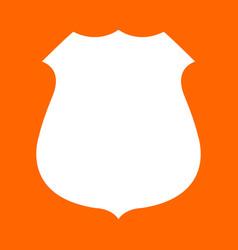 police badge white icon vector image