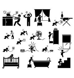 safety hazard at home for children potential vector image