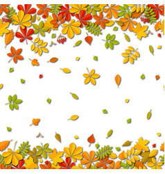 Seamless border autumn falling leaf background vector