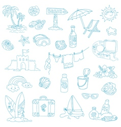 Seaside and Summer - design elements vector
