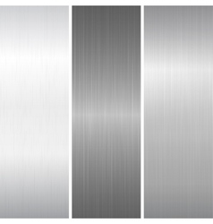 Set of polished metallic surface vector