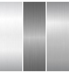 Set polished metallic surface vector