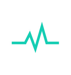 simple heart beat wave vector image
