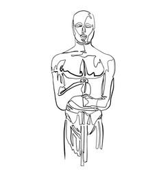 Sketch of scar statuette minimalist drawing vector