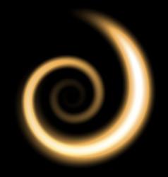 spiral of light golden color vector image