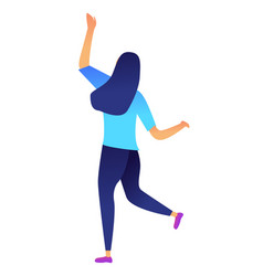 successful business woman dancing vector image