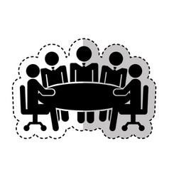 Teamwork silhouette figure human vector