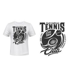 tennis sport club t-shirt print mockup vector image
