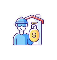 Theft rgb color icon vector