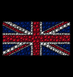 United kingdom flag pattern of jet fighter items vector