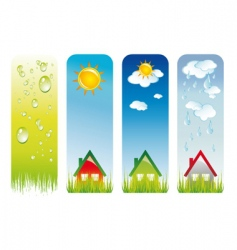 weather backgrounds vector image