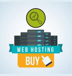 Web hosting design data center icon isolate vector