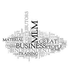 What is mlm text word cloud concept vector