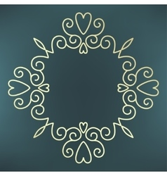 calligraphic frame mono line vector image vector image