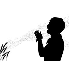 Hay fever vector image vector image