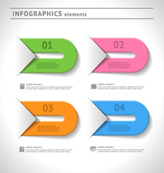 Infographics elements and design template vector image