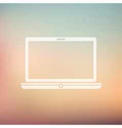 Modern laptop in flat style icon vector image vector image