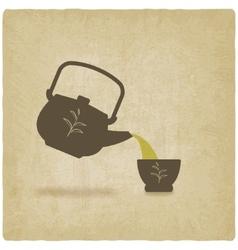 Tea ceremony old background vector