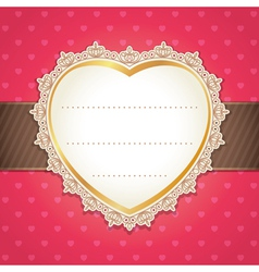Valentine wedding card design vector image vector image