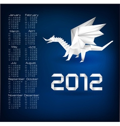 2012 year calendar vector image